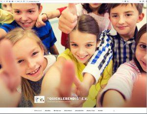 Homepage von Quicklebendig e.V. Julia Post